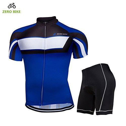 ZEROBIKE® Men's Short Sleeve Breathable Cycling Jersey 3D Padded Shorts Set Bicycle Clothing Full (Reg Set)