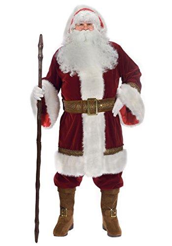 Fun World Costumes Men's Plus-Size Plus Size Adult Oldtime Santa... Hooded Robe Set, Red/White, X-Large