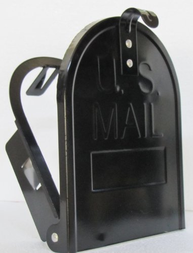 6 1/4 Inch RetroFit Mailbox Door Replacement - Black (Mailbox Insert)