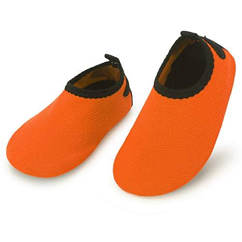 L-RUN First Walker Infant Toddler Baby Walking Shoes Orange 18-24 Months=EU21-22