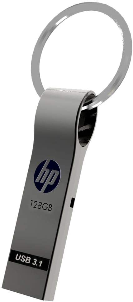 HP 128GB USB 3.1 Metal Key Ring Design Flash Drive
