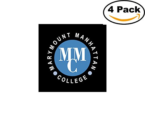Colleges And Universities Marymount Manhattan College Logo 4 Stickers 4X4 Inches Car Bumper Window Sticker Decal -