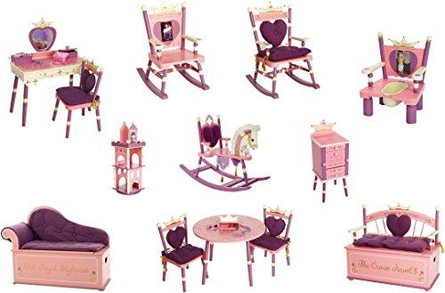 Wildkin Princess Toy Box Bench