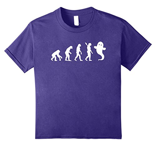 Spirit Caveman Costume (Kids Ghost Evolution T-shirt Spirit Made Better 12 Purple)