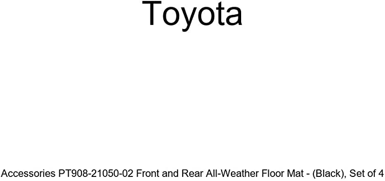 Black Genuine Toyota Accessories PT908-21050-02 Front and Rear All-Weather Floor Mat - Set of 4