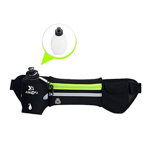 Running Hydration Gürtel Taille Gürtel Taille Beutel mit Einer Wasser Flasche, für Bewegung Gym Fitness Radfahren Wandern, geeignet für die meisten der Smartphones für Damen und Herren