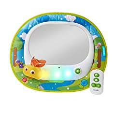 Bring the magic of fireflies to your travels and keep your little one happy with the Brica Firefly Baby In-Sight Mirror. Choose the entertaining mode and your baby is introduced to patterns of light dancing behind the mirror in time to the li...