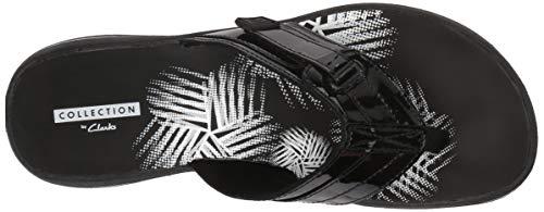 Clarks Calzado Negro Charol De Jazz Brinkley Sintético Correa TqrnwTxUBg