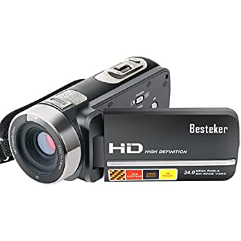 Camera Camcorders, Besteker FHD 1080P Night Vision 24MP 16X Digital Zoom Touch Screen Video Camcorder