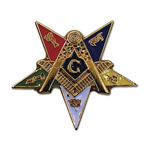 Order of The Eastern Star Patron Masonic Lapel Pin - 1