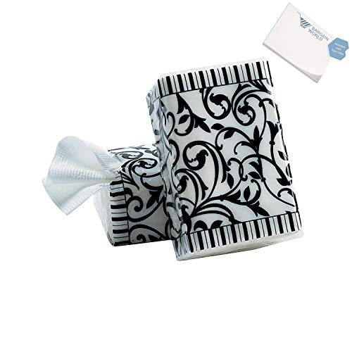 Bargain World Black And White Wedding Facial Tissue Packs (With Sticky Notes)