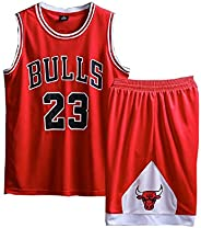 YAZHIJIAO Kids 23# Basketball Jersey Short Sets Children Tank top Boys Uniform