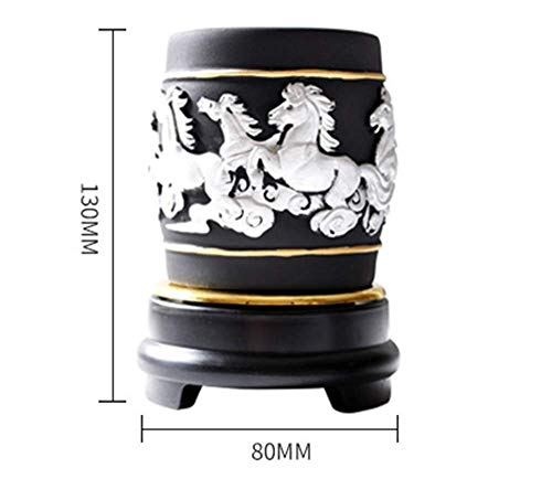 Bozhiyi Home Decoration Resin Crafts Ornaments Creative Charcoal Carving Pen and Crafts Desk Decoration Home Activated Carbon Crafts (Color : A)
