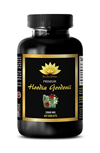 Metabolism Booster Appetite Suppressant - HOODIA GORDONII - Pure Hoodia Gordonii Extract - 1 Bottle (60 Tablets) (Tablets Hoodia 60 Pure)