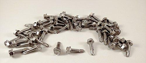 410 Stainless Steel Tek Screws 8 Hex Washer Head Self