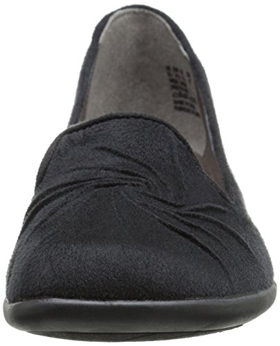 Morbidi Cuccioli Hush Puppies Womens Rory Flat Faux Suede Nero