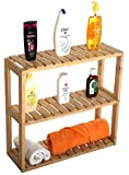 Comfy DIY - Papiro Bathroom Rack Made of Natural Wood- 3 Tier - Modern Design - Elegant Finish (Color : Natural Wood)