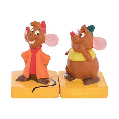 (Vandor 90030 Disney Cinderella Jaq and Gus Sculpted Ceramic Salt and Pepper Set, 2.75 x 2.75 x 4.5 Inches)