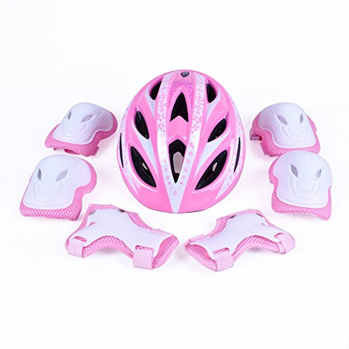 B'DAY SPORTS Kids Child Multi-Sport Helmet with Safety Sports Protective Gear Set Knee/Elbow/Wrist Pads for Cycling Skating and Other Extreme Sports Activities - CPSC Certified for Safety and Comfort by B'DAY SPORTS