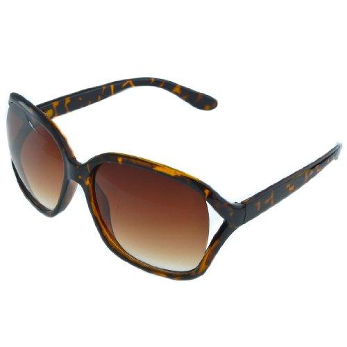 BIRCH's Classic Vintage Chic Oversize Women's Square Frame Fashion Sunglasses (Tortoise)