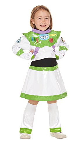 Disney Pixar Toy Story Buzz Lightyear Girl Kids Costume girl 100cm-120cm 95651S (Buzz Lightyear Costume Girls)