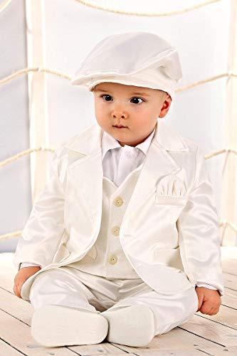 LULINA Abito da Battesimo (6pz), Vestito da Cerimonia Misto Cotone per Bambino, Color Panna (1965). 4
