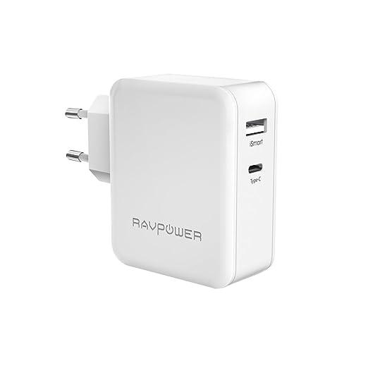 37 opinioni per [ Caricatore USB C ] RAVPower Caricatore USB da Muro a Doppia Porta Type-C & USB