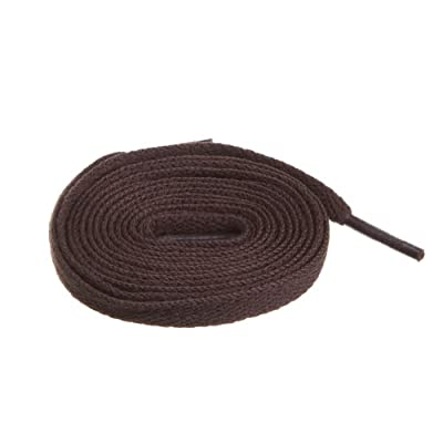 """BIRCH's Shoelaces in 27 Colors Flat 5/16"""" Shoe Laces in 4 Different Lengths (29.5""""(75cm) S, Bistre)"""