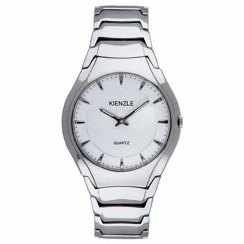 Kienzle KIENZLE KLASSIK - Reloj analógico de caballero de cuarzo con correa de acero inoxidable blanca: Amazon.es: Relojes