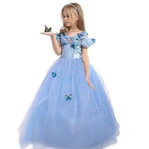 JiaDuo Girls Princess Cinderella Dress Butterfly Party Costumes