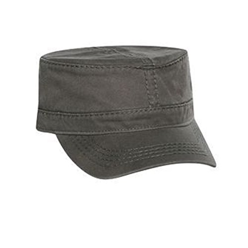 Heavy Garment Washed Cotton Cap (OTTO Superior Garment Washed Cotton Twill w/ Heavy Stitching Military Style Caps)