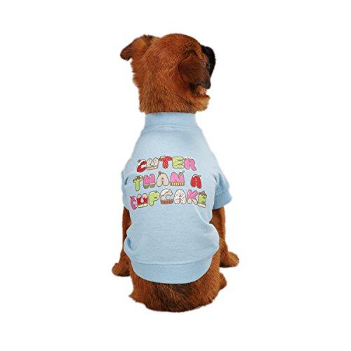 Zack & Zoey Polyester/Cotton Cupcake Dog Tee, Small/Medium, Blue