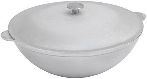 Aluminum Wok Kazan for Making Pilaf Plov Dutch Oven with Dual Handles Large Cooking Pot 12.7-qt 12 L