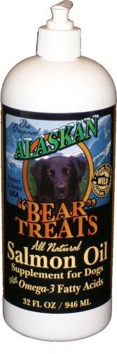 Alaskan Bear Treats All Natural Wild-Alaskan Salmon Oil for Dogs, 32 Ounces