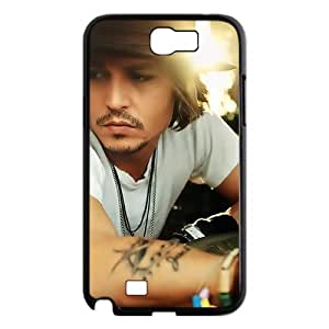 Custom Johnny Depp Hard Back Cover Case for Samsung Galaxy Note 2 NT21