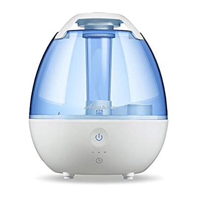 Cool Mist Humidifiers - Anypro Ultrasonic Room Humidifier with Variable Time Settings, Automatic Shut-off, and Soft Night Lights Options