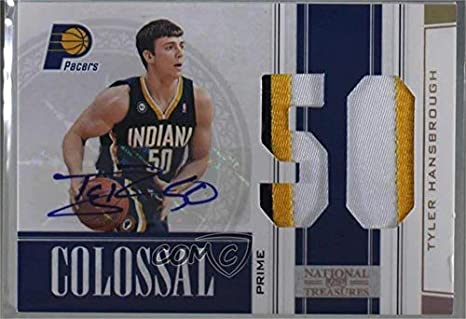 b562f646f3c Amazon.com: Tyler Hansbrough #/5 (Basketball Card) 2009-10 Playoff National  Treasures - Colossal - Die-Cut Jersey Number Prime Signatures [Autographed]  #34: ...