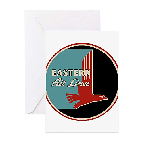 (CafePress Eastern Airlines Greeting Cards Greeting Card, Note Card, Birthday Card, Blank Inside Matte )