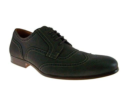 Ferro Aldo Heren 139356 Vintage Wing Tip Geperforeerde Brogue Oxford Dress Schoenen Grijs