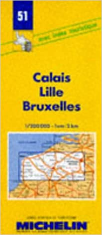 Map Of France Showing Lille.Michelin Calais Lille Bruxelles France Map No 51 Michelin Maps