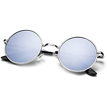 75ff053de6 Sojos Small Round Polarized Sunglasses Mirrored Lens