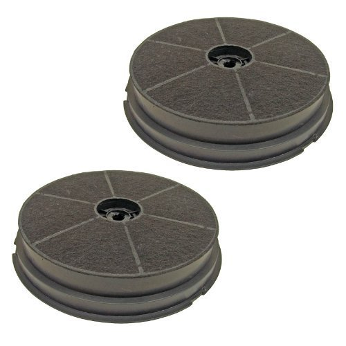 First4spares Round Charcoal Anti Odour Grease Filters for CDA Cooker Hoods (Pack of 2)