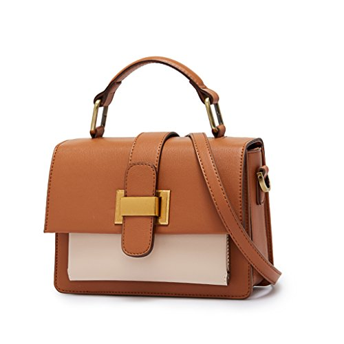 Bag PU Shoulder Color BROWN Crossbody Brown package JIUTE Hand Ms Vintage Leather S1fcw