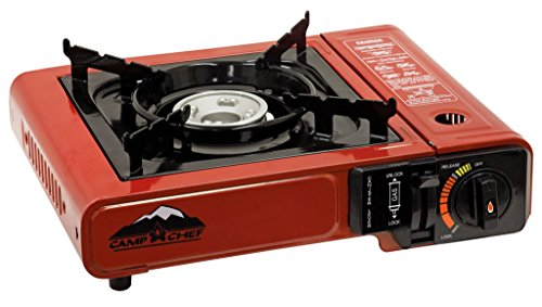 Camp Chef Mountain Series Butane 1 Burner Stove with plastic storage - Camp Ring Gas Fire Chef