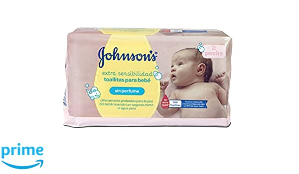Johnsons Baby Toallitas Bebé Sensitive - 2 Pack: Amazon.es: Amazon Pantry