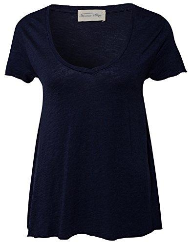 Mujer American Vintage Pico Marino nbsp;cuello Jac51 Azul De BB5xqrf