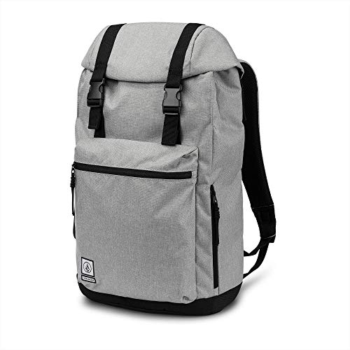 Backpack Embroidered Volcom - Volcom Men's Ruckfold Laptop Storage Backpack, grey vintage, One Size Fits All