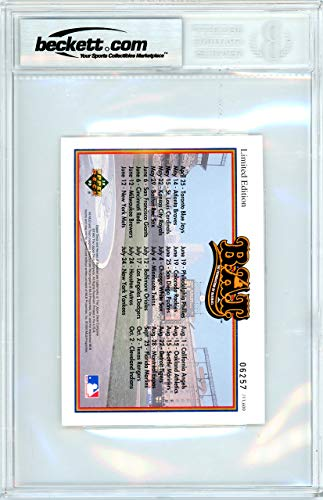Mickey Mantle Autographed Signed 1993 Upper Deck Heroes Postcard New York Yankees Gem Mint 10 Beckett Authentic