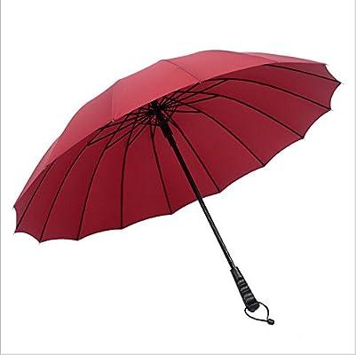 d59fd1f3a Amazon.com: HOMEIC Windproof Solid Color Large Male Umbrella Long-Handle  Rainy Big Umbrella 001: Garden & Outdoor