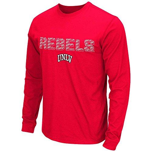Unlv Rebels Basketball (Mens NCAA UNLV Rebels Long Sleeve Tee Shirt (Team Color) - M)